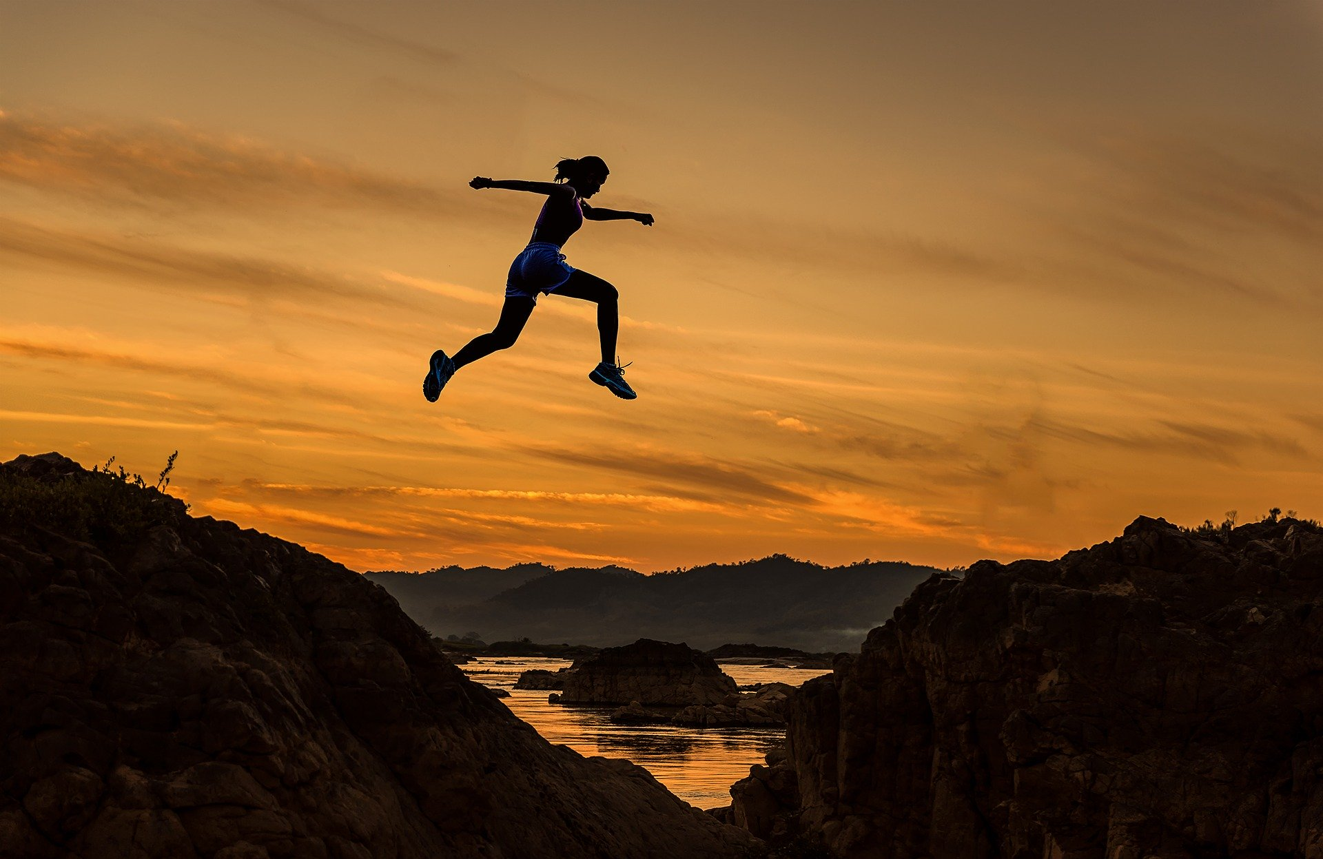 Kvinde springer